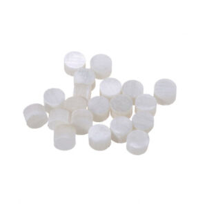 3mm Natural Mother of Pearl Guitar Fretboard Inlay Dots, White Pearl (Set of 20)