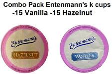 ENTENMANN'S COFFEE K CUPS COMBO 30 CUPS  15- HAZELNUT, 15  VANILLA