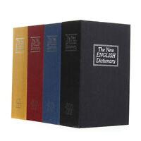 Secret Dictionary Book Cash Money Jewelry Safe Storage Box Security Key Lock NEW