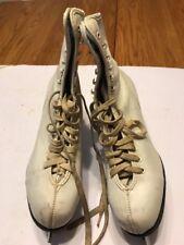 Women's Ice Figure Winter Skates Leather White Size 10Us White Ships N 24h