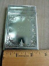 Gorham 1873 Sterling Silver Engraved Card Cse  (54218)