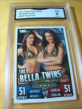 THE BELLA TWINS 2011 TOPPS SLAM ATTAX TAG TEAM # NNO GRADED 9 L@@@K
