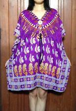 S60 Boho Casual Viscose Paisley Kaftan Caftan Kimono Summer Top S M L  XL 2X