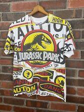 New listing Vtg Jurassic Park T Shirt Mens All Over Print Movie Promo 1993 Youth Xl