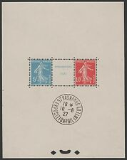"FRANCE BLOC FEUILLET 2 a "" STRASBOURG 1927 "" NEUF SANS CHARNIERE xx CACHET EXPO"