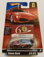 2007 Hotwheels Ferrari Racer 575 GTC Silver Red 16/24 60th Anniversary MOC!