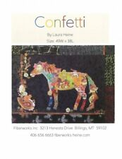 Confetti Horse Collage Wall Hanging Quilt Pattern by Fiberworks