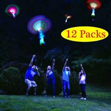 12X Flying Rotating Rocket Helicopter Flash LED Light Toy Outdoor Fun Game Gift