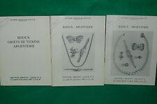 Lot 3 catalogues vente aux enchères argenterie bijoux DROUOT de 1987 et 1988