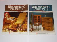 Woodworking Projects Books 1 & 2. USA Issue Hands On Magazine Projects 1986.