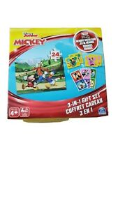 Mickey Mouse in 1 Gift Set Puzzle, Memory Match Game and Dominoes New