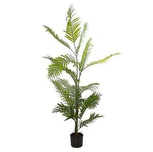 LARGE ARTIFICIAL KENTIA PALM TREE POTTED PLANT FAKE SYNTHETIC LEAF DECOR 150CM