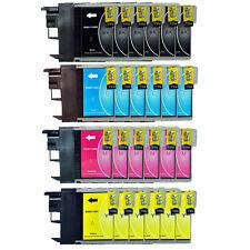 24 Patrone für DCP365CN DCP375CW DCP385C DCP395CN DCP585CW ersetzt BROTHER LC980
