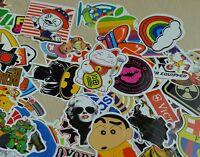 100 Random Film Music Vinyl Skateboard Guitar Travel Case Sticker Lot Pack Decal