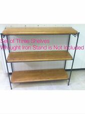 Custom Made Wood Shelves Only (3) for the Longaberger Bookcase Stand