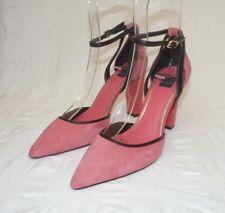 White House Black Market Womens Pink Evening High Heels Shoes Size Uk 6 Eu 39