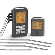 Grillthermometer Funk BBQ Thermometer für Grill & Backofen Bratenthermometer