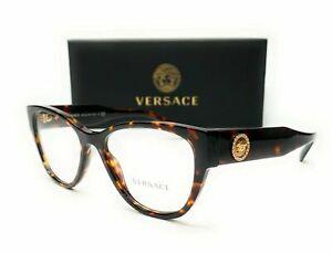 Versace Eyeglasses VE3281B 108 Havana Frame W/ RX Demo Lens BRAND NEW