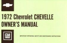 Chevelle & El Camino 1972 Owner's Manual 72