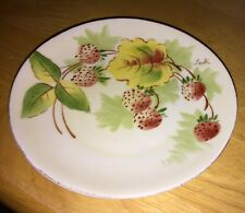 Vintage Hand Painted Strawberries Small Plate