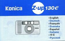 Konica Zup 130e Instructions