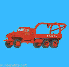 Roco H0 1697 GMC KRAN-WAGEN Zonen LKW Rot US truck OVP HO 1:87