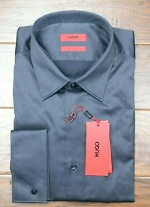 Hugo Boss Men's George Reg Fit French Cuff Easy Iron Cotton Dress Shirt 42 16.5