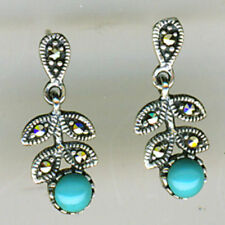 Turquoise Marcasite Fine Earrings