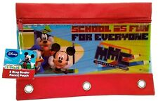 Disney Mickey Mouse 3 Ring Binder Pencil Pouch Red