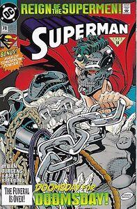 Superman Comic 78 First Print 1993 Dan Jurgens Brett Breeding DC
