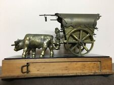 Rare Vintage Music Box with Draw - Bull Carriage Brass - Brass