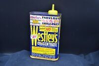 Vtg WESTLEY'S Concentrate Silicon Polish  Blue/Yellow Metal Tin-Cleveland,Ohio