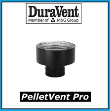 "DURAVENT PELLETVENT PRO 3"" to 8"" Chimney Adapter, Black #3PVP-X8"