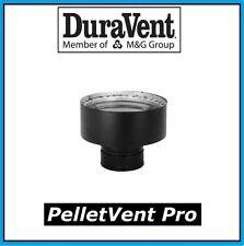 "DURAVENT PELLETVENT PRO 3"" to 6"" Chimney Adapter, Black #3PVP-X6"