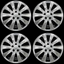 "4 CHROME 09-15 Toyota Matrix 16"" Wheel Covers Rim Hub Caps with STEEL CLIPS New"