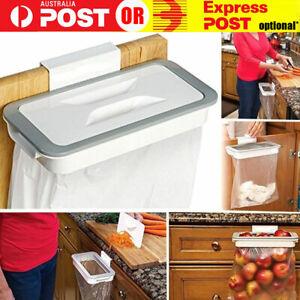 Cupboard Door Back Trash Rack Storage Hanging Holder Kitchen Cabinet Garbage Bag