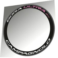 CAMPAGNOLO BORA ULTRA 50 2015 WHITE & LIGHT PINK  3D RIM DECAL SET FOR 2 RIMS