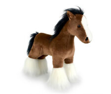 Korimco 30cm Clive Standing Horse Soft Animal Plush Stuffed Toy Kids 3y Brown