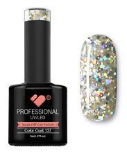 137 VB Line Transparent Silver Glitter - gel nail polish - super gel polish