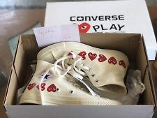 Comme de Garcons CDG Play Converse Chuck Taylor Off White 6 M / 8 W