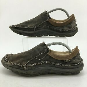 Cushe Dawn Patrol Slippers Mens 12 Gray Pepper Casual Slip On Shoes Distressed