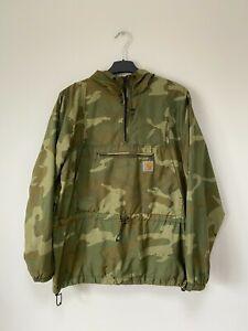 CARHARTT Men's Anorak 1/4 Zip Camouflage Jacket Size L
