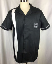 Route 66 Men's BLACK Button Down Shirt Size XL Cotton Spandex Bowling Shirt NWT