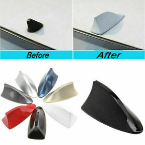 Car Auto Shark Fin Style Roof Antenna Decoration Aerial AM/FM Cover Universal