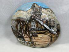 "Painted Rock, ""Maggie Mining"" Vintage Mining Scene, #kcpr12"