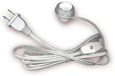"""Lamp Lighting Cord Kit with Candelabra Press Fit Socket Fits 3/4"""" to 1"""" hole"""