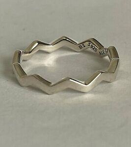 PANDORA POLISHED ZIGZAG RING, S925 ALE, STERLING SILVER, ALL SIZES WITH POUCH