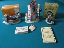 Emmett Kelly 3 Sculptures/Figurines, Some With Box, Original Tags