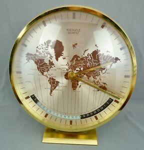 schöne alte Tischuhr Weltzeituhr Kienzle ca. 50/60er Jahre
