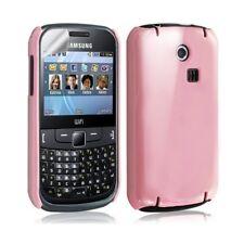 Housse étui coque rigide brillante pour Samsung Chat 335 S3350 couleur rose pâle